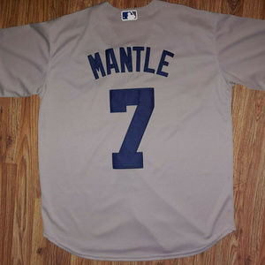 Majestic Mickey Mantle New York Yankees Jersey L